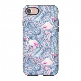 iPhone 8/7  Pink and Blue Flamingo Summer  by Utart