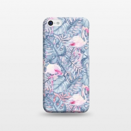 iPhone 5C  Pink and Blue Flamingo Summer  by Utart