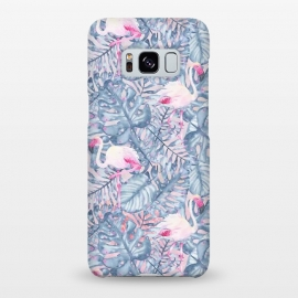 Galaxy S8+  Pink and Blue Flamingo Summer  by Utart