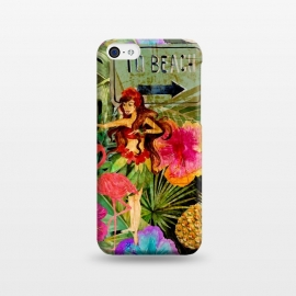 iPhone 5C  Vintage Hula Girl- To the Beach by Utart