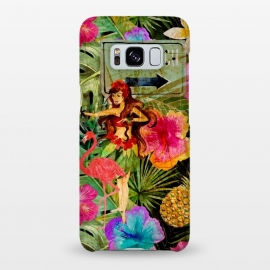 Galaxy S8+  Vintage Hula Girl- To the Beach by Utart
