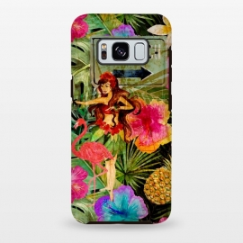 Galaxy S8 plus  Vintage Hula Girl- To the Beach by