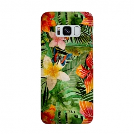 Galaxy S8  Retro Tropical Flower Jungle by Utart