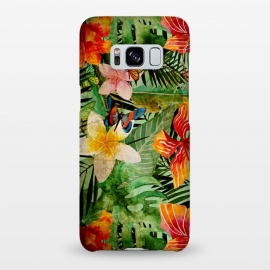 Galaxy S8+  Retro Tropical Flower Jungle by Utart