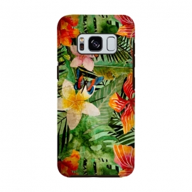 Retro Tropical Flower Jungle by Utart