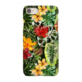 iPhone 8/7  Vintage Tropical Flower Jungle Pattern by Utart