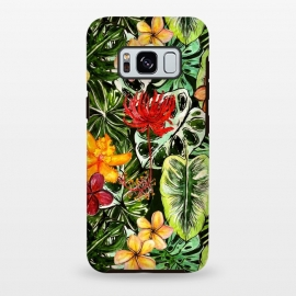 Galaxy S8+  Vintage Tropical Flower Jungle Pattern by Utart
