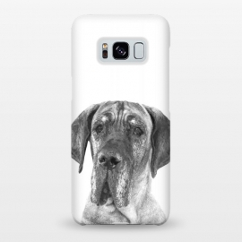 Galaxy S8+  Black and White Great Dane by Alemi