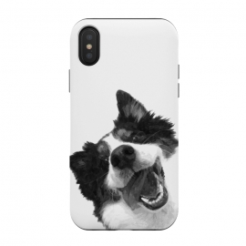 Black and White Happy Dog by Alemi