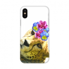 iPhone X  Cute Cheetah by Alemi