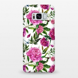 Galaxy S8+  Pink Peonies on White by Utart