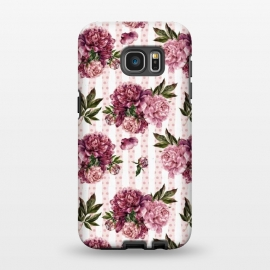 Galaxy S7 EDGE  Vintage Pink Peony Pattern by Utart