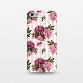 iPhone 5/5E/5s  Vintage Pink Peony Pattern by Utart