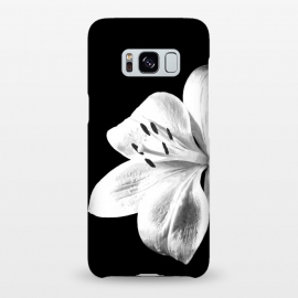Galaxy S8+  White Lily Black Background by Alemi