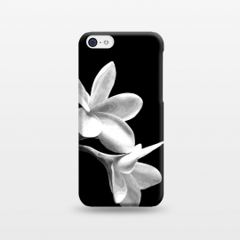 iPhone 5C  White Flowers Black Background by Alemi