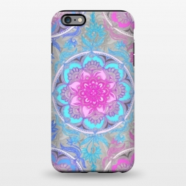 iPhone 6/6s plus  Pink, Purple and Turquoise Super Boho Medallions by Micklyn Le Feuvre