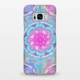 Galaxy S8+  Pink, Purple and Turquoise Super Boho Medallions by Micklyn Le Feuvre