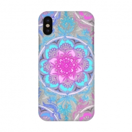 iPhone X  Pink, Purple and Turquoise Super Boho Medallions by Micklyn Le Feuvre