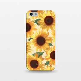 iPhone 5/5E/5s  Happy Yellow Sunflowers by Micklyn Le Feuvre