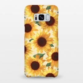 Galaxy S8+  Happy Yellow Sunflowers by Micklyn Le Feuvre