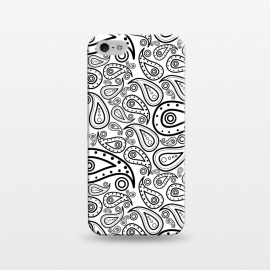 iPhone 5/5E/5s  black and white paisley by TMSarts