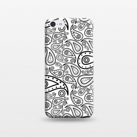 iPhone 5C  black and white paisley by TMSarts