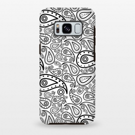 black and white paisley by TMSarts