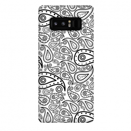 Galaxy Note 8  black and white paisley by TMSarts