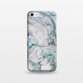 iPhone 5C  Teal and gray marble by Utart