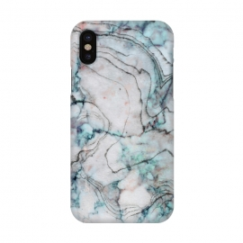 iPhone X  Teal and gray marble by Utart