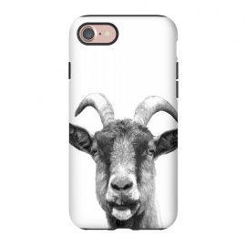 iPhone 8/7  Black and White Goat Portrait by Alemi