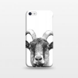 iPhone 5C  Black and White Goat Portrait by Alemi