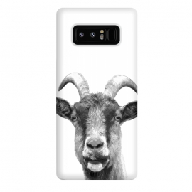 Galaxy Note 8  Black and White Goat Portrait by Alemi