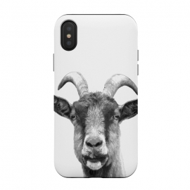 iPhone Xs / X  Black and White Goat Portrait by Alemi
