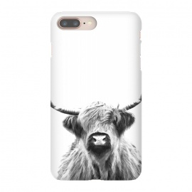 Black and White Highland Cow by Alemi