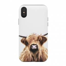 iPhone Xs / X  Highland Cow Portrait by