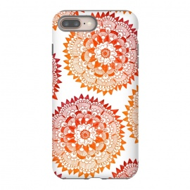 iPhone 8/7 plus  Red Bohemian Mandala by ECMazur