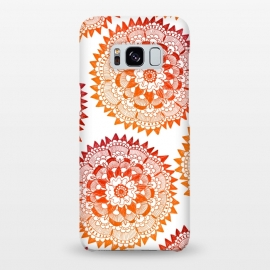 Galaxy S8+  Red Bohemian Mandala by ECMazur
