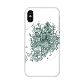 iPhone X  Stag and Forest by ECMazur