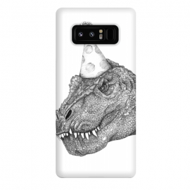 Galaxy Note 8  Party Dinosaur by ECMazur  (dinosaur,trex,tyrannosaurus rex,realistic,pen art,surreal,party,party hat,awesome,cool ,black and white,dino,reptile)