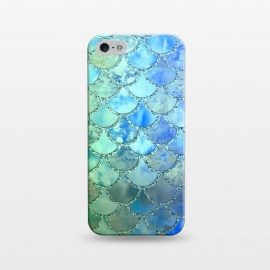 iPhone 5/5E/5s  Ocean green and blue Mermaid Scales by Utart