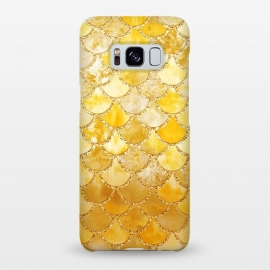 Galaxy S8+  Gold Watercolor Mermaid Scales by Utart