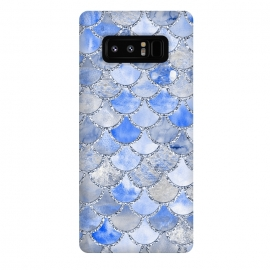 Galaxy Note 8  Blue and Silver Mermaid Scales by Utart