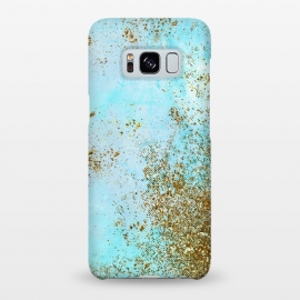 Galaxy S8+  Gold and Teal Mermaid Glitter Foam by Utart