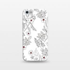iPhone 5/5E/5s  Roses by Dunia Nalu (floral, b&w,Black&white,black, white, transparent,roses,flower,red)