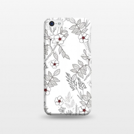 iPhone 5C  Roses by Dunia Nalu (floral, b&w,Black&white,black, white, transparent,roses,flower,red)
