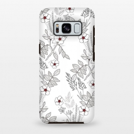Galaxy S8+  Roses by Dunia Nalu (floral, b&w,Black&white,black, white, transparent,roses,flower,red)