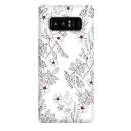 Galaxy Note 8  Roses by Dunia Nalu (floral, b&w,Black&white,black, white, transparent,roses,flower,red)