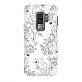 Galaxy S9+  Roses by Dunia Nalu (floral, b&w,Black&white,black, white, transparent,roses,flower,red)