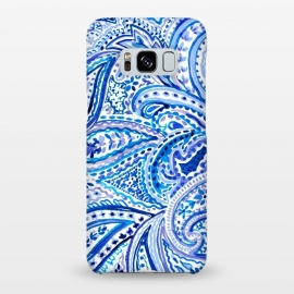 Galaxy S8+  Blue watercolor paisley by Susanna Nousiainen